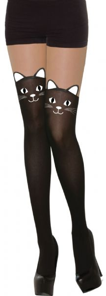 Cat Tights Feline Pussy Pet Animal Fancy Dress